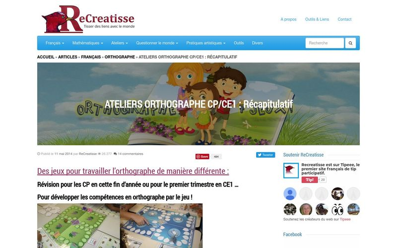 ATELIERS ORTHOGRAPHE CP/CE1 : Récapitulatif • ReCreatisse